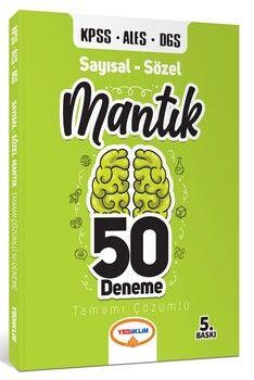 Yediiklim Yayınları 2021 KPSS ALES DGS Sayısal Sözel Mantık Tamamı Çözümlü 50 Deneme