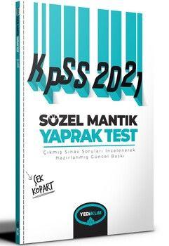 Yediiklim Yayınları 2021 KPSS Sözel Mantık Çek Kopart Yaprak Test