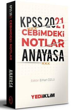 Yediiklim Yayınları 2021 KPSS Cebimdeki Notlar Anayasa