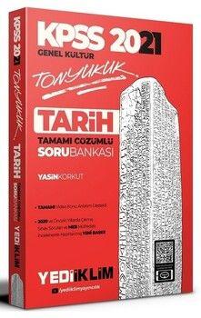 Yediiklim Yayınları 2021 KPSS Genel Kültür Tonyukuk Tarih Tamamı Çözümlü Soru Bankası