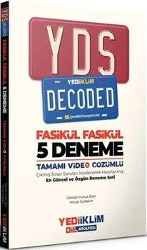 Yediiklim YayınlarıYDS Decoded Tamamı Video Çözümlü Fasikül 5 Deneme
