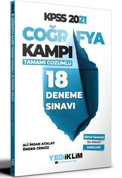 Yediiklim Yayınları 2021 KPSS Coğrafya Kampı Tamamı Çözümlü 18 Deneme Sınavı