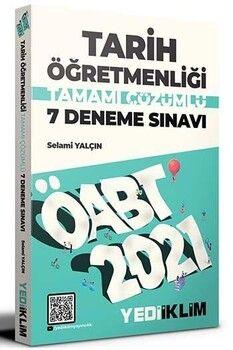 Yediiklim Yayınları 2021 ÖABT Tarih Öğretmenliği Tamamı Çözümlü 7 Deneme Sınavı