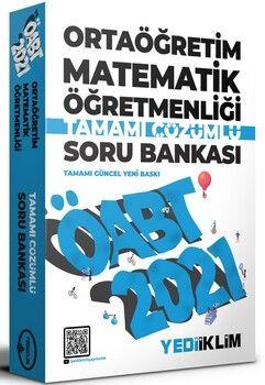 Yediiklim Yayınları 2021 ÖABT Ortaöğretim Matematik Öğretmenliği Tamamı Çözümlü Soru Bankası