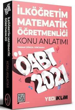 Yediiklim Yayınları 2021 ÖABT İlköğretim Matematik Öğretmenliği Konu Anlatımı