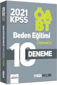 Yediiklim Yayınları2021 ÖABT Beden Eğitimi Öğretmenliği Tamamı Çözümlü 10 Deneme