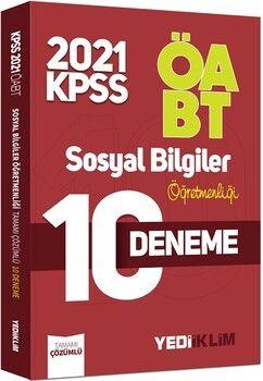 Yediiklim Yayınları2021 ÖABT Sosyal Bilgiler Öğretmenliği Tamamı Çözümlü 10 Deneme