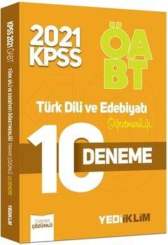 Yediiklim Yayınları2021 ÖABT Türk Dili ve Edebiyatı Öğretmenliği Tamamı Çözümlü 10 Deneme