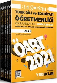Yediiklim Yayınları 2021 ÖABT Türk Dili ve Edebiyatı Öğretmenliği Berceste Konu Anlatımlı Modüler Set