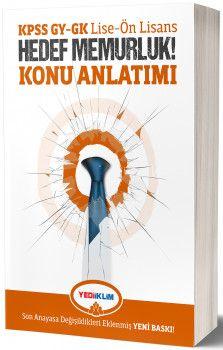 Yediiklim Yayınları KPSS GY GK Lise Ön Lisans Hedef Memurluk Konu Anlatımı