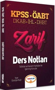 Yediiklim Yayınları 2021 ÖABT Din Kültürü ve Ahlak Bilgisi Öğretmenliği DKAP İHL DHBT Zarif Ders Notları