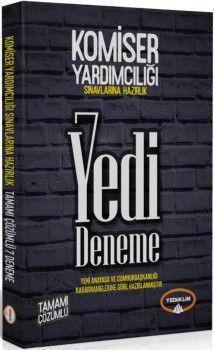 Yediiklim Yayınları Komiser Yardımcılığı Sınavlarına Hazırlık Tamamı Çözümlü 7 Deneme