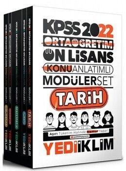 Yediiklim Yayınları 2022 KPSS Ortaöğretim Ön Lisans GY GK Konu Anlatımlı Modüler Set