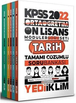 Yediiklim Yayınları2022 KPSS Ortaöğretim Ön Lisans GY GK Tamamı Çözümlü Modüler Soru Bankası Seti