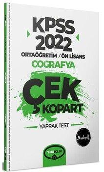 Yediiklim Yayınları 2022 KPSS Ortaöğretim Ön Lisans Genel Kültür Coğrafya Çek Kopart Yaprak Test