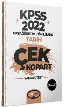 Yediiklim Yayınları 2022 KPSS Ortaöğretim Ön Lisans Genel Kültür Tarih Çek Kopart Yaprak Test