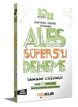 Yediiklim Yayınları 2022 Master Serisi Ales Sayısal Sözel Yetenek Tamamı Çözümlü Süper 5 li Deneme