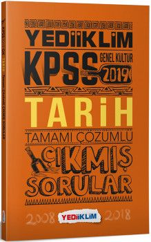 Yediiklim Yayınları 2019 KPSS Genel Kültür Tarih Tamamı Çözümlü Çıkmış Sorular