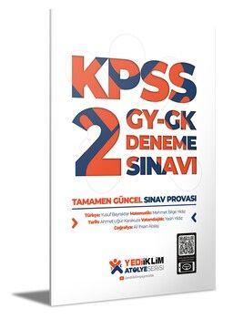 Yediiklim Yayınları Atölye Serisi KPSS Genel Yetenek Genel Kültür 2 Deneme Sınavı