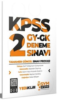 Yediiklim Yayınları KPSS Genel Yetenek Genel Kültür 2 ÖSYM Ne Sorar Deneme Sınavı