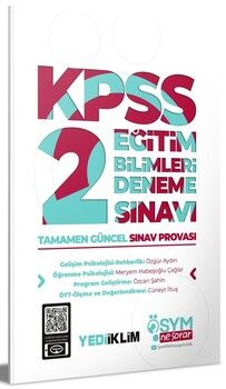 Yediiklim Yayınları KPSS Eğitim Bilimleri 2 ÖSYM Ne Sorar Deneme Sınavı