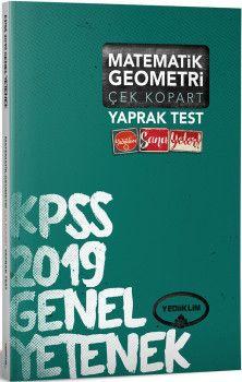 Yediiklim Yayınları 2019 KPSS Genel Yetenek Matematik Geometri Çek Kopart Yaprak Test