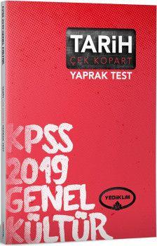 Yediiklim Yayınları 2019 KPSS Genel Kültür Tarih Çek Kopart Yaprak Test