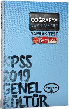 Yediiklim Yayınları 2019 KPSS Genel Kültür Coğrafya Çek Kopart Yaprak Test
