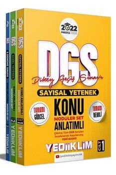 Yediiklim Yayınları 2022 Prestij Serisi DGS Konu Anlatımlı Modüler Set 3 Cilt
