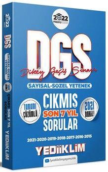Yediiklim Yayınları 2022 Prestij Serisi DGS Tamamı Çözümlü Son 7 Yıl Çıkmış Sorular