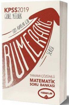 Yediiklim Yayınları 2019 KPSS Bumerang Matematik Tamamı Çözümlü Soru Bankası