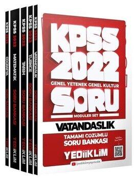 Yediiklim Yayınları 2022 KPSS GY-GK Tamamı Çözümlü Modüler Soru Bankası