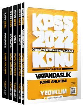 Yediiklim Yayınları 2022 KPSS Genel Yetenek Genel Kültür Konu Anlatımlı Modüler Set