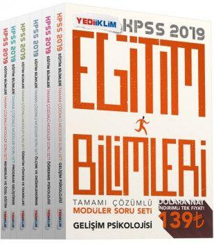 Yediiklim Yayınları 2019 KPSS Eğitim Bilimleri Tamamı Çözümlü Modüler Soru Seti