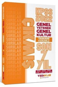 Yediiklim Yayınları 2022 KPSS GY GK Tamamı Çözümlü Son 7 Yıl Çıkmış Sorular