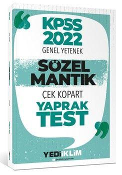 Yediiklim Yayınları 2022 KPSS Sözel Mantık Çek Kopart Yaprak Test