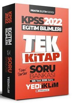 Yediiklim Yayınları 2022 KPSS Pratik Eğitim Serisi Eğitim Bilimleri Tek Kitap Soru Bankası