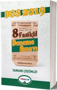 Yediiklim Yayınları 2019 DGS Sayısal Sözel Tamamı Çözümlü Fasikül 8 Deneme