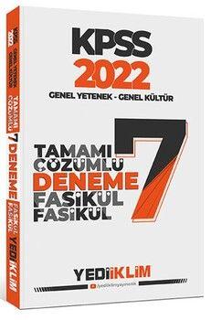Yediiklim Yayınları 2022 KPSS GY GK Tamamı Çözümlü 7 Fasikül Deneme