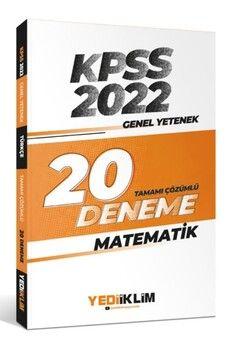 Yediiklim Yayınları 2022 KPSS Genel Yetenek Matematik Tamamı Çözümlü 20 Deneme Sınavı