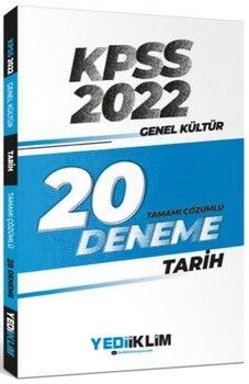 Yediiklim Yayınları 2022 KPSS Genel Kültür Tarih Tamamı Çözümlü 20 Deneme Sınavı