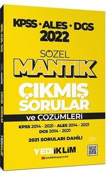 Yediiklim Yayınları2022 KPSS ALES DGS Sözel Mantık Çıkmış Sorular ve Çözümleri