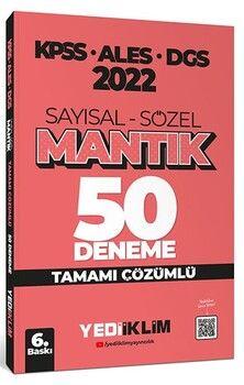 Yediiklim Yayınları2022 KPSS ALES DGS Sayısal Sözel Mantık Tamamı Çözümlü 50 Deneme