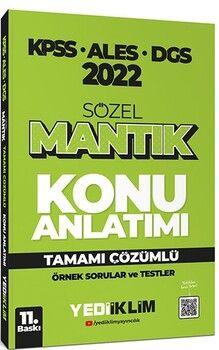 Yediiklim Yayınları2022 KPSS ALES DGS Sözel Mantık Konu Anlatımı
