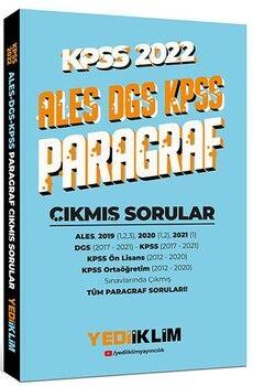 Yediiklim Yayınları2022 KPSS ALES DGS Paragraf Çıkmış Sorular