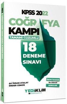 Yediiklim Yayınları2022 KPSS Coğrafya Kampı Tamamı Çözümlü 18 Deneme Sınavı