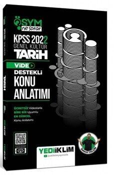 Yediiklim Yayınları 2022 KPSS Genel Kültür ÖSYM Ne Sorar Tarih Video Destekli Konu Anlatımı