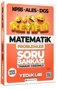 Yediiklim Yayınları 2022 KPSS ALES DGS Keyifli Matematik Problemler Tamamı Çözümlü Soru Bankası