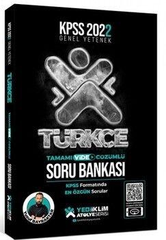 Yediiklim Yayınları 2022 KPSS Genel Yetenek Atölye Serisi Türkçe Tamamı Video Çözümlü Soru Bankası