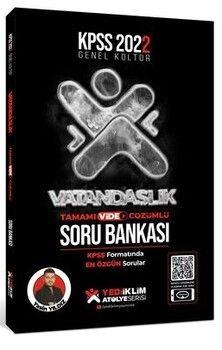 Yediiklim Yayınları 2022 KPSS GK Atölye Serisi Vatandaşlık Tamamı Video Çözümlü Soru Bankası